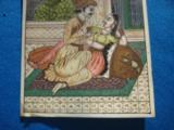 Antique India Mughal Miniature Painting Royal Couple in Palace on Ivory circa 1850 - 4 of 6