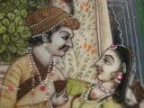Antique India Mughal Miniature Painting Royal Couple in Palace on Ivory circa 1850 - 5 of 6