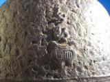 Chinese Qing Dynasty Cast Iron Vase with Roses & Butterflies Signed - 7 of 15