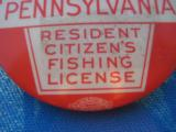 Pennsylvania State Resident Fishing License Button 1939 - 2 of 4