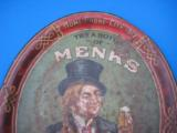 Menks Bottle Beer Tray Circa 1900 Lexington St. Brewery Louisville Ky. RARE - 2 of 8