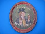 Menks Bottle Beer Tray Circa 1900 Lexington St. Brewery Louisville Ky. RARE - 1 of 8