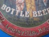 Menks Bottle Beer Tray Circa 1900 Lexington St. Brewery Louisville Ky. RARE - 4 of 8