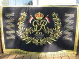 British 16th Lancers Campaign Banner Circa 1936 RARE
