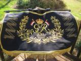 British 16th Lancers Campaign Banner Circa 1936 RARE - 2 of 12