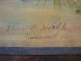 Conestoga Wagon Folk Art Oil Painting Circa 1920 Richmond Va. Artist - 3 of 7