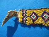 Northern Plains Sioux Beaded Choker Circa 1890's - 2 of 10