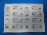 SS RZM Visor Cap Tags Dienstmutze & Feldmutze Rare Uncut Sheet