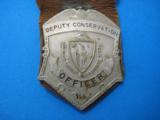 Massachusetts Deputy Conservation Officer Badge Rare - 1 of 6