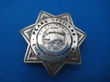 California Peace Officer's Civil Service Assoc. Badge Sterling Rare Maker Entenmann
