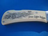 Custom Folder by John Hoskins Cheney, Wa.Walrus Ivory Scimshaw Scales Circa 1984 - 11 of 21