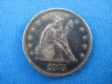 U.S. Seated Liberty 20 Cent Piece 1875 VG45+