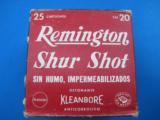 Remington ShurShot 20 Gauge 0 Buckshot Mexican Export Box Rare