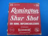 Remington ShurShot 20 Gauge 0 Buckshot Mexican Export Box Rare