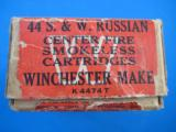 Winchester Smith & Wesson 44 Russian 2 Pc. Cartridge Box Full - 3 of 7