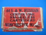 Winchester Smith & Wesson 44 Russian 2 Pc. Cartridge Box Full - 4 of 7