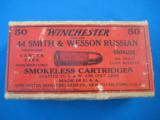 Winchester Smith & Wesson 44 Russian 2 Pc. Cartridge Box Full - 1 of 7