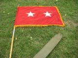 Major General E.C. O'Connor Flag Set American Flag & 2 Star Maj. Gen. Flag