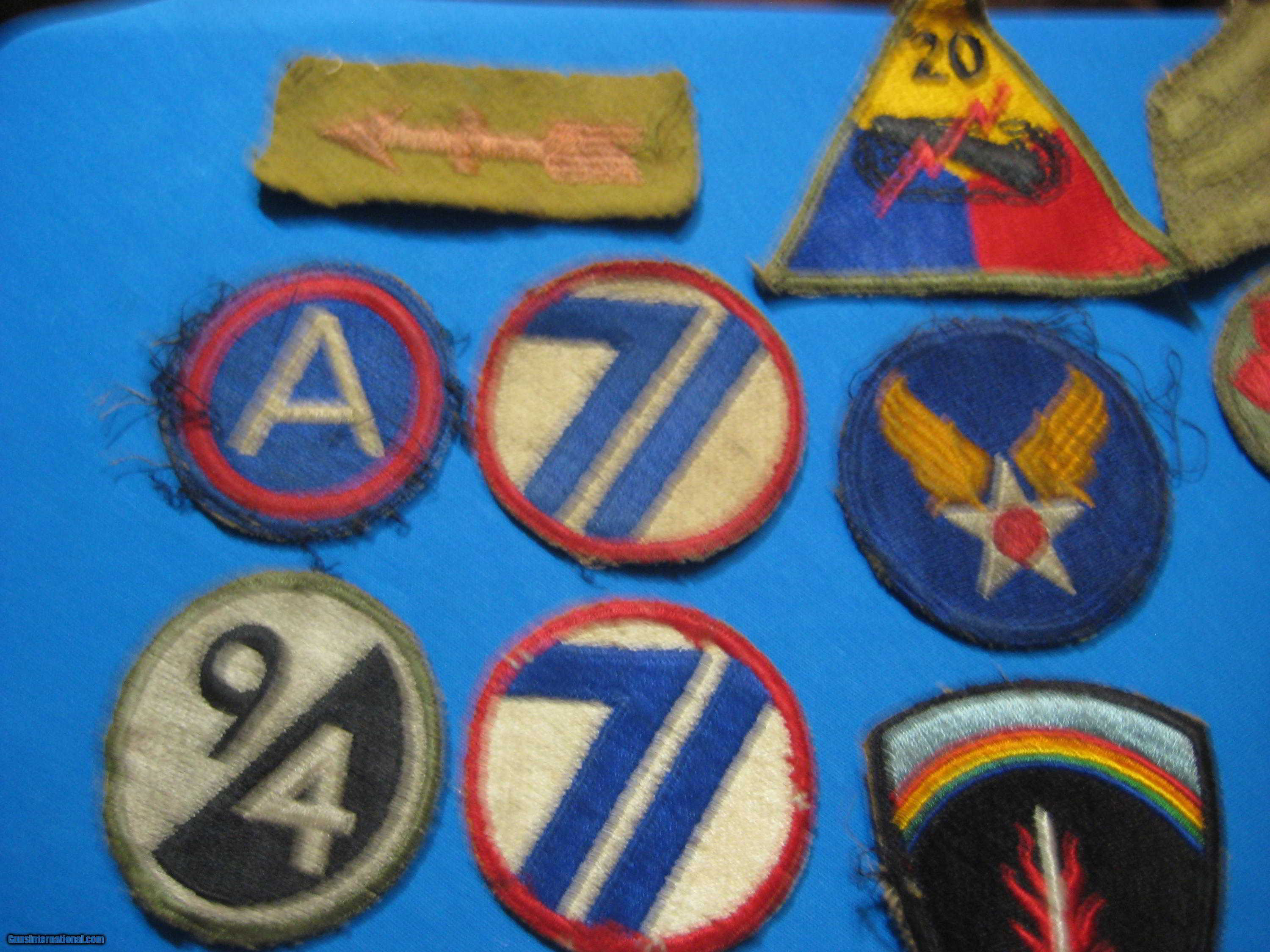 U S  WW2 Army Division Patches for sale