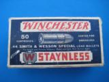 Winchester Staynless 44 S&W Special Cartridge Box - 2 of 9