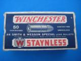 Winchester Staynless 44 S&W Special Cartridge Box