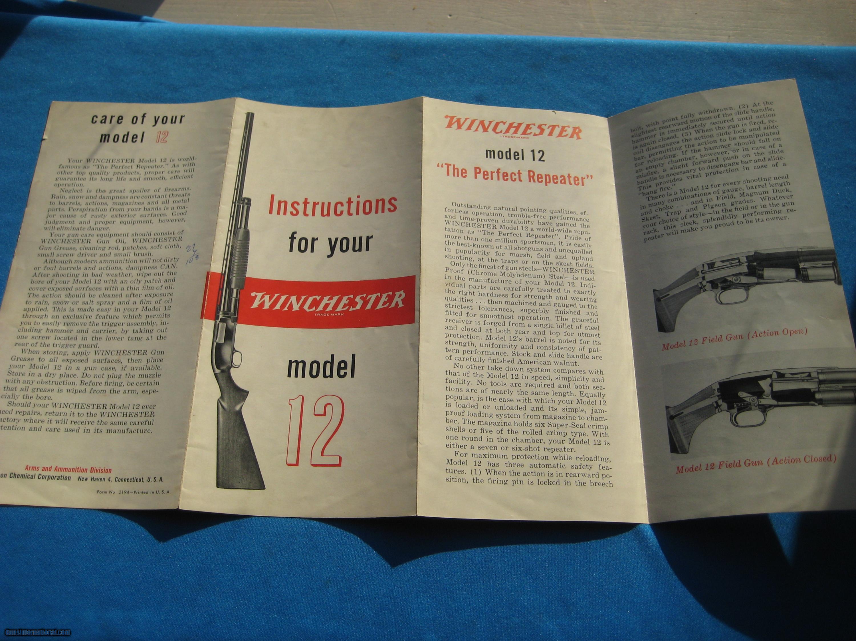 Winchester model 12 manual