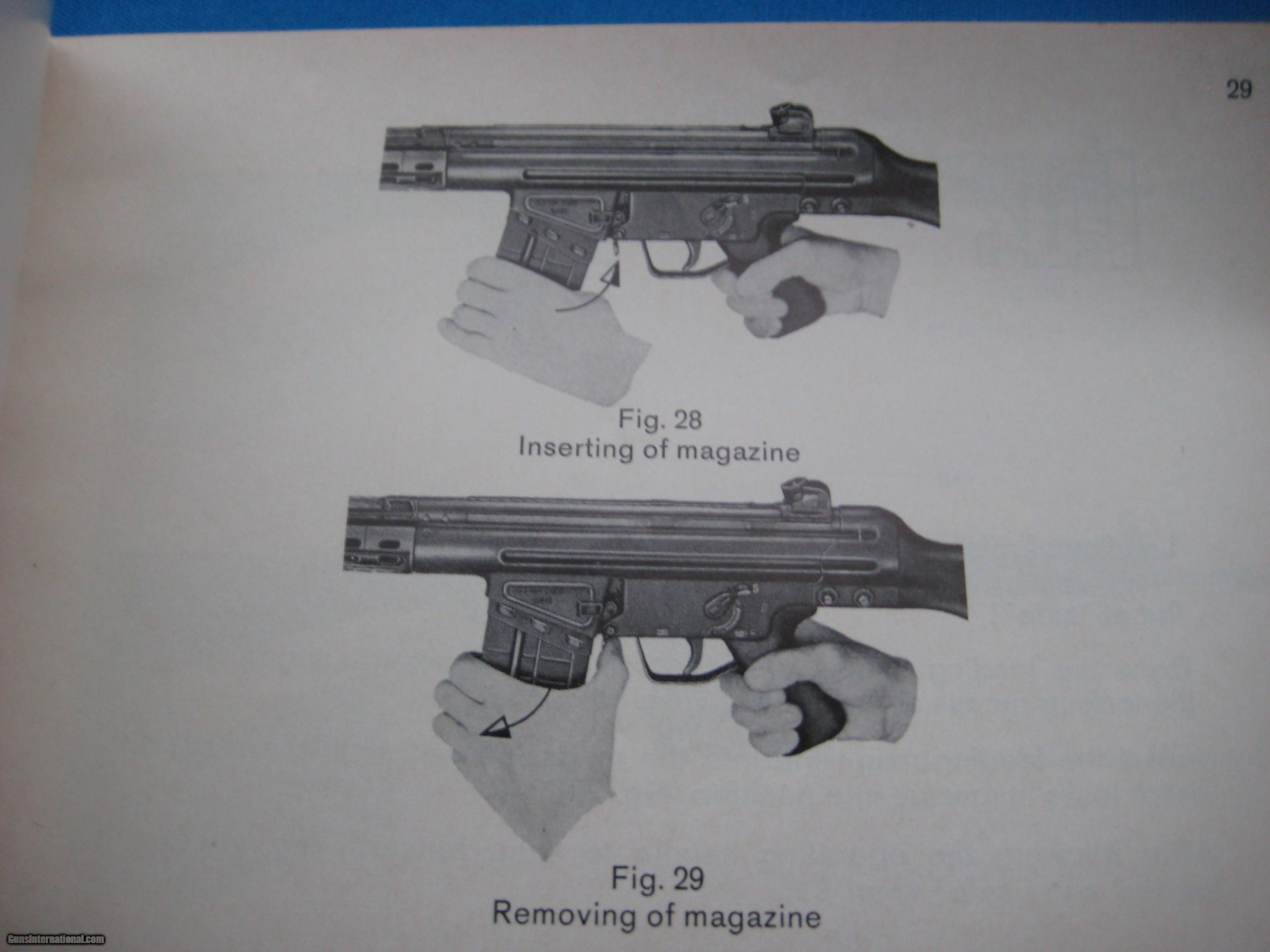 Hk Original G3 Manual Circa 1970 Parts Diagram Further Kimber 1911 Exploded View Gsg 6 Of 9