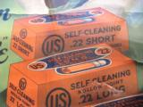 "US Cartridge Co. Original Poster ""Clean As A Whistle"" 22 Cartridge Boxes ""Self Cleaning"" Circa 1920's RARE - 7 of 11"