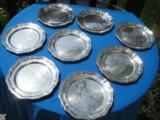 Strube & Sohn Sterling Silver Dessert Plates Set of 8 Hallmarked 925 - 6 of 7