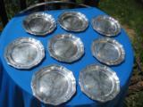 Strube & Sohn Sterling Silver Dessert Plates Set of 8 Hallmarked 925 - 5 of 7