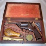 CasedMassachusetts Arms Adams Patent 31cal. Revolver