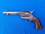 "Colt SAA 2nd Gen. 38 Special Francolini Engraved 5 1/2"" bbl. Silver Plated & Signed"
