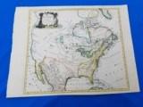 North American Map Circa 1775 by Thos. Conder