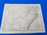 Map of the Southern States of America circa 1795 by J. Russell