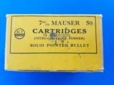 Kynoch 7mm Mauser Full Box (50) Date Code 8/39 - 3 of 6