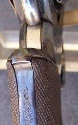 Cased Adams Patent European Percussion Revolver - 9 of 20