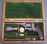 Cased Adams Patent European Percussion Revolver