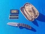 Curtiss Custom Folder w/original Case Wharncliffe Grind F3 Flipper