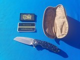 Curtiss Custom Folder w/original Case Wharncliffe Grind F3 Flipper