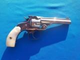 Smith & Wesson Top Break Revolver 32 S&W Nickel w/MOP Grips