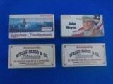 John Wayne, Legendary Frontiersmen and Wells Fargo Ctg. Boxes