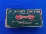 Remington Umc 41 Rim Fire Cartridge Box