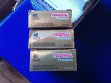 Federal Hydra Shock HP 40 S&W & Winchester Bonded JHP 40 S&W - 3 of 5