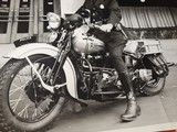 "Harley Davidson Vintage Photo 8""x10"" Police - 2 of 7"