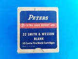 Peters 32 S&W Blanks Full Box of 50