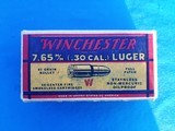 Winchester 7.65mm Luger Full Box Excellent