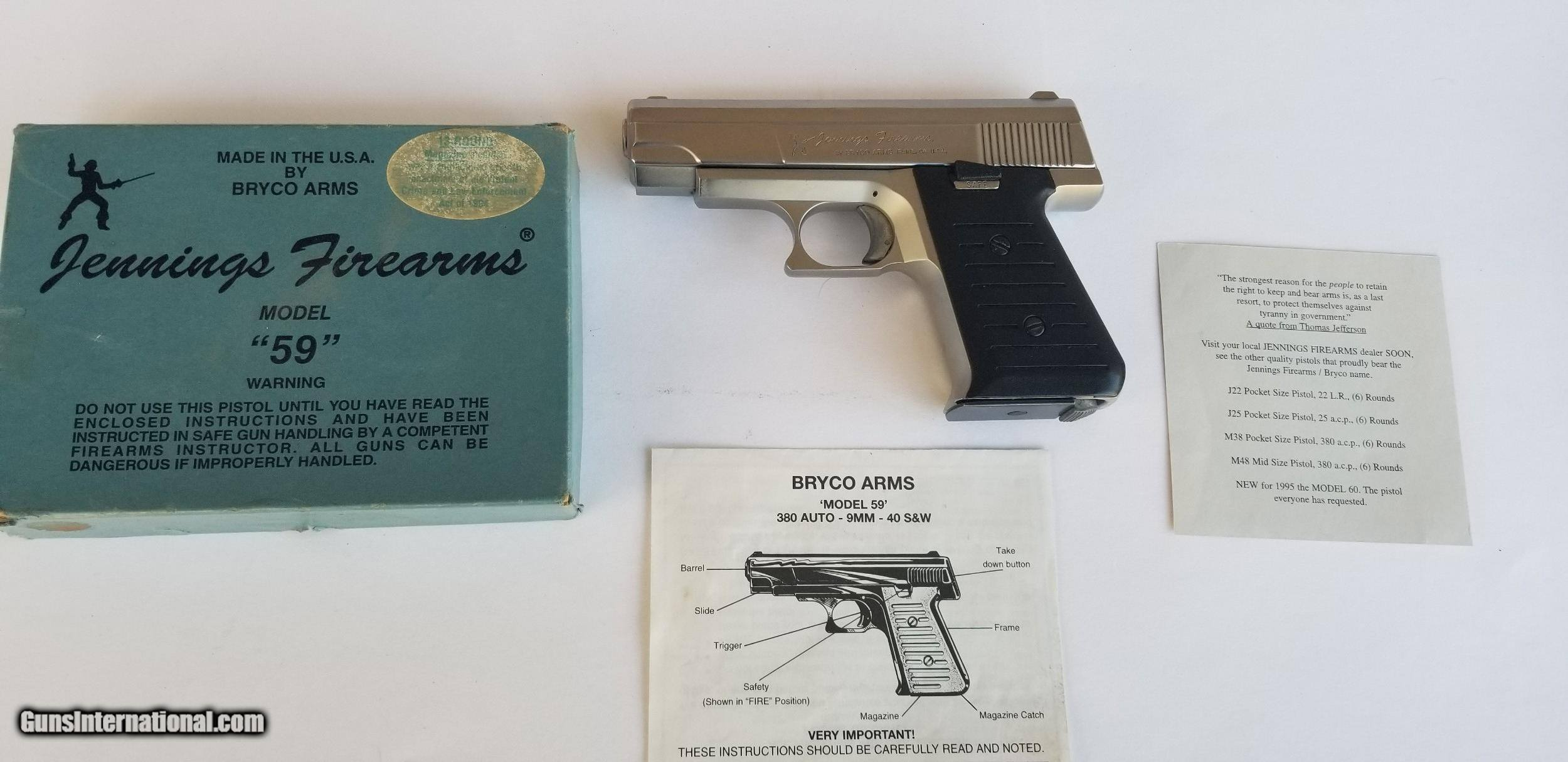 Bryco /Jennings Model 59 Like NIB for sale