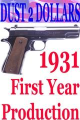 Colt Commercial Model ACE .22 LR Semi Automatic Pistol FYP 1931 1st Year MFG C&R #2038
