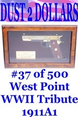 colt-1991a1-west-point-wwii-tribute-45-acp-pistol-24-karat-gold-37-of-500-mint-in-display-case-w-colt-box
