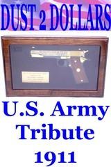 Colt 1991A1 U.S. Army Tribute 45 ACP Pistol 24 Karat Gold #16 of 300 Mint In Display Case W/Colt Box - 1 of 10